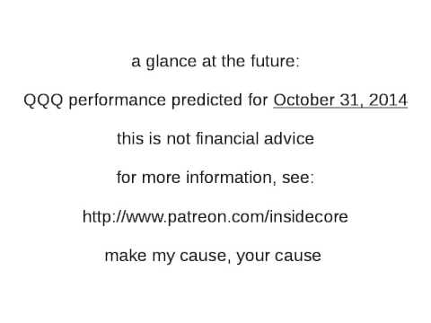 stock market prediction - QQQ on 10/31/14