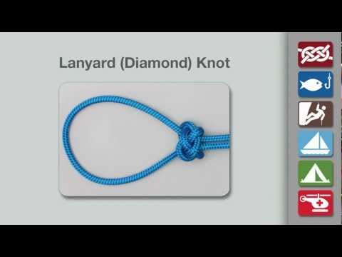 Lanyard Knot   How to Tie a Lanyard (Diamond) Knot