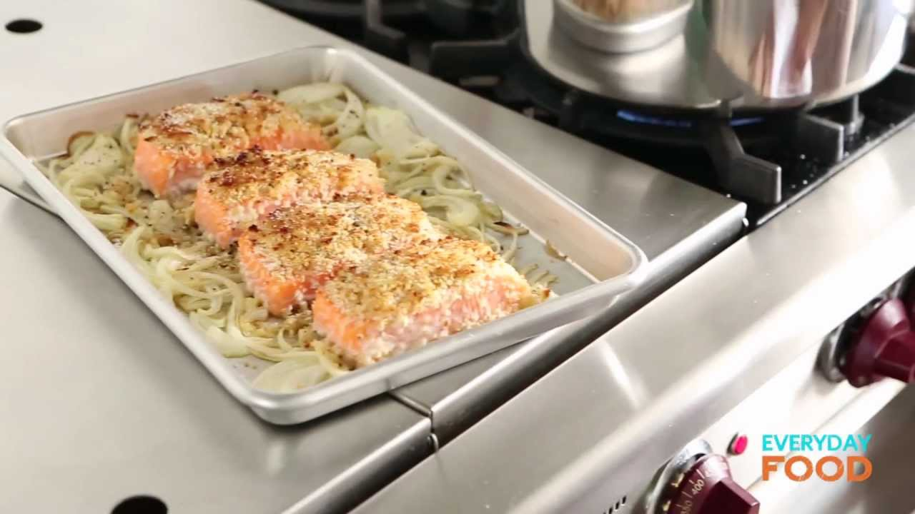 Honey-Mustard Salmon with Green Beans | Everyday Food with Sarah Carey ...
