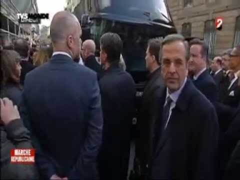 ANTONIS SAMARAS,GREEK PRIME MINISTER, IN PARIS UNITY MARCH
