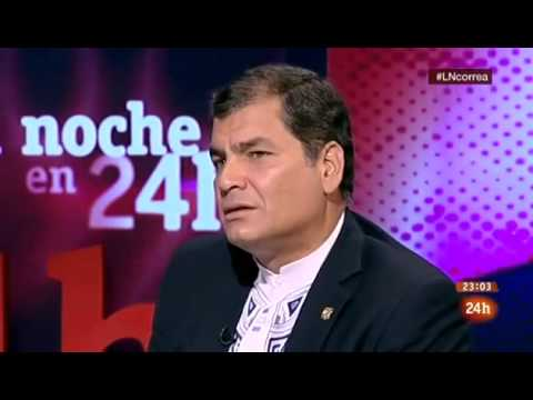Rafael Correa Entrevista 24hTVE Abril 2013