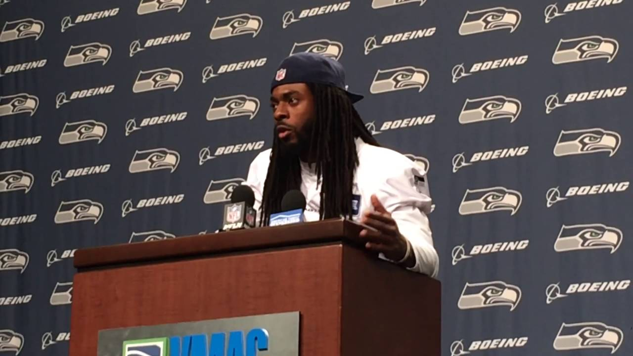 Richard Sherman fed up with killings in our society, takes no questions