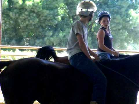 Kids Horse Camp Riding Bareback