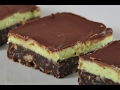 Chocolate Mint Squares Recipe Demonstration - Joyofbaking.com