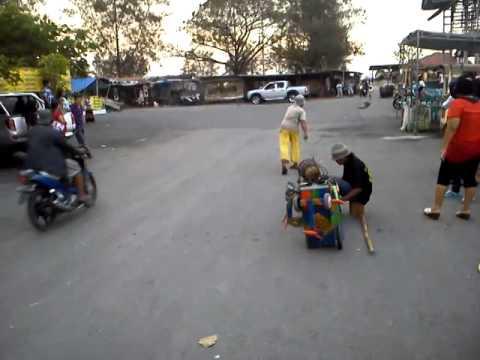 Indonesian traditional monkey dance(Topeng Monyet)