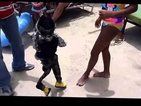 Girl with Sexy booty shake dance on beach