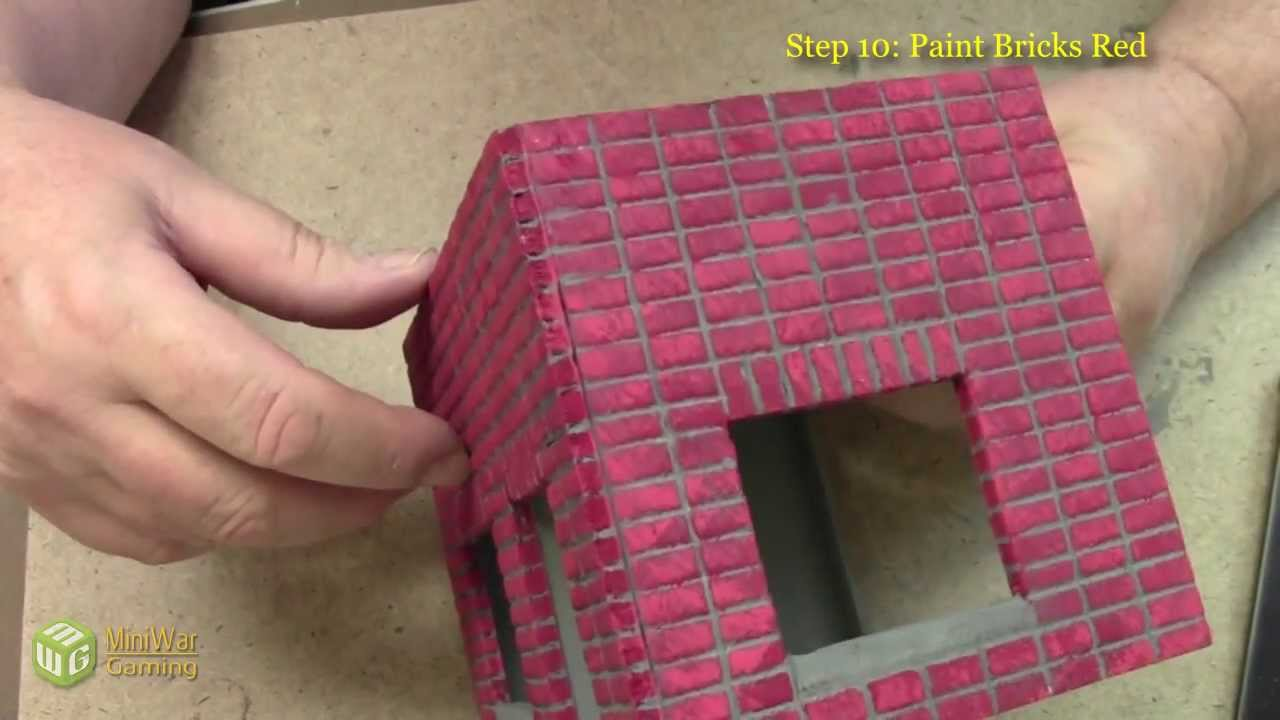 How to make a miniature building with stackbond brick work for What to do with bricks
