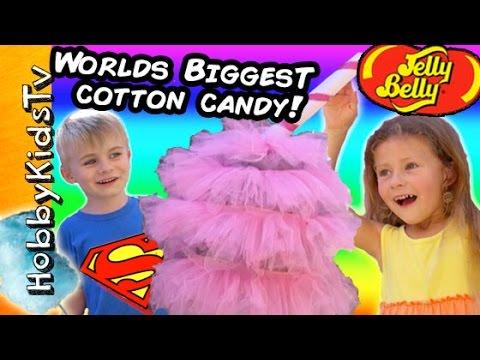 Worlds BIGGEST COTTON CANDY Surprise! HobbyRose Jelly Belly by HobbyKidsTV