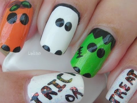 Halloween Nail Art - Trick or Treat