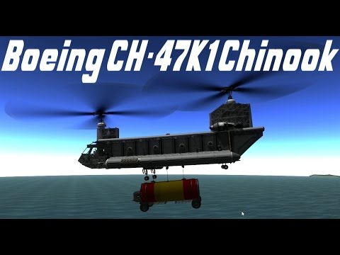 KSP v.24.2 Boing CH-47K1 Chinook transport mission