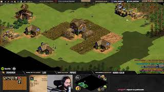 Age of empires II - GAME VIEWERS ! 2v2v2v2 ....