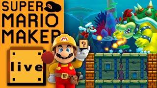 SUPER MARIO MAKER HARDEST LEVELS | YouTube Gaming Livestream at EGX 2015 | Mario Maker Gameplay