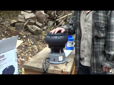 Harbor Freight Tumbler and Polishing Media And Walnut Media Review