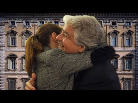 Grillo piomba al Senato all'improvviso - immagini esclusive