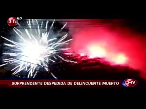 Video muestra impactante despedida de delincuente muerto - CHV NOTICIAS