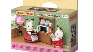Sylvanian Families Cupboard with Oven unboxing review