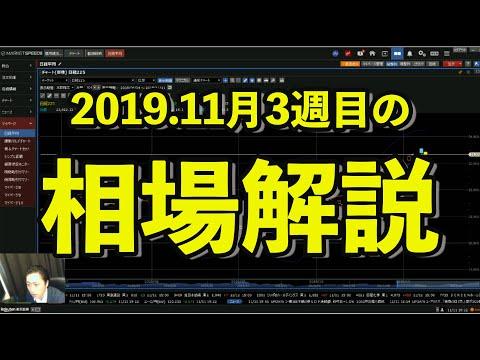 2019.11月2週目の相場解説【週イチ株予報】
