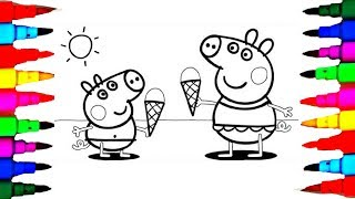 Learn Art l How To Draw and Color l Peppa Pig Drawing Coloring Videos For Children l Learn Colors