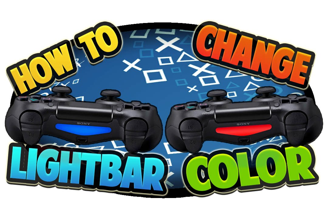 How to Change PS4 Controller Light Bar Color - YouTube