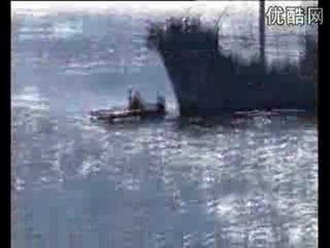 Green Peace fight against Japanese whaling fleet
