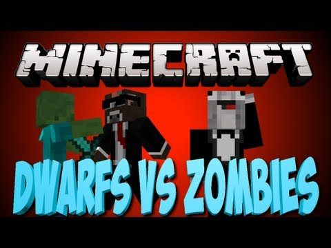 Minecraft DWARFS VS ZOMBIES Minigame Server