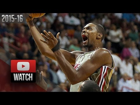 Chris Bosh Full Highlights vs Jazz (2015.11.12) - 25 Pts, 8 Reb, 4 Blk