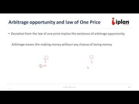 FRM Level 1: Prices, Discount, Factors and Arbitrage