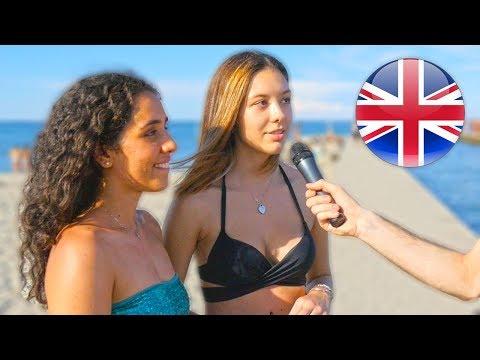 Gli ITALIANI parlano INGLESE ? Domande al mare - thepillow