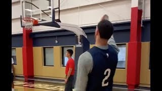 (VIDEO) LONZO BALL SHOWS UP WITH A NEW JUMPSHOT AT PELICANS 1ST PRACTICE!