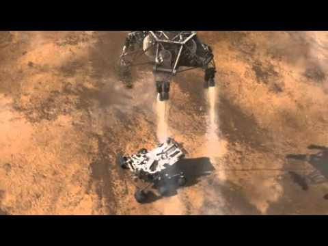 NASA Rover Curiosity Landing on Mars