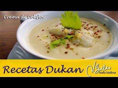 Adelgazar: Crema de coliflor (Dukan Crucero) / Diet Wisconsin Cauliflower Soup