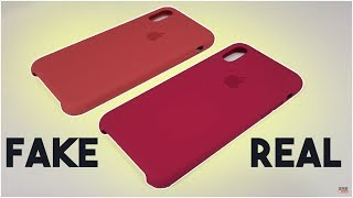 iPhone X Real VS Fake Silicone Case - How to tell