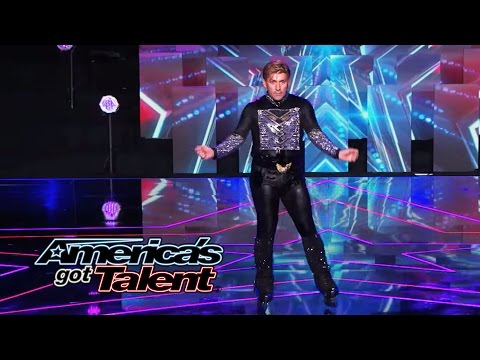 "Juan Carlos: Outrageous Rollerblader Dances to ""Big Spender"" - America's Got Talent 2014"