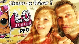 Chasse au trésor : recherche d'une poupée LOL Lil Outrageous Littles Surprise Pets ! (Unboxing)