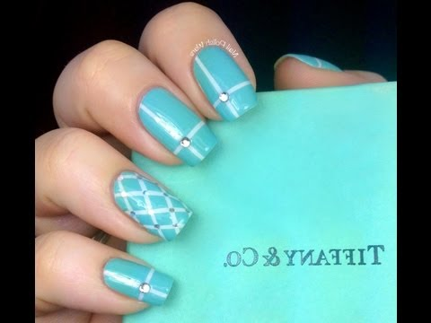 Tiffany and co inspired Nail Art Designs How To With Art Design About Cute Beginners Nails