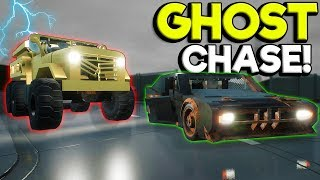 We Got Chased By a Ghost Car Through Lego City! - Brick Rigs Multiplayer Gameplay
