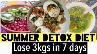 Lose 3kgs In 7 Days | Summer Detox Diet Plan For Weight Loss | Azra Khan Fitness