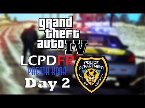 GTA 4: LCPDFR - 1.0c [Day 2]. Работа в Полиции - Наступила Зима.