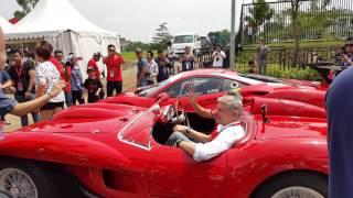 Ferrari 250TR start up @Ferrari 70th anniversary, Jakarta