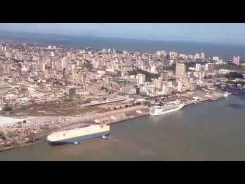 Aterragem de voo da LAM em Maputo - Moçambique