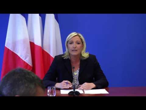 Point presse de Marine Le Pen - 25 juin 2014