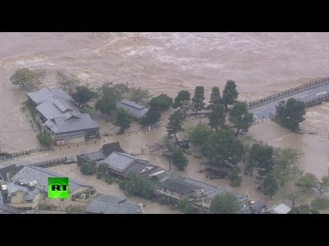 Fears for Fukushima as powerful typhoon strikes Japan