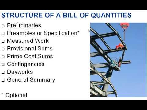 bill of quantities format pdf
