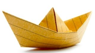 Origami Tutorial: How To Make An Origami Boat
