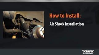 Air Shock Installation