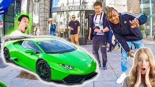 DRIVING A LAMBORGHINI THROUGH BEVERLY HILLS *Funny Reactions*