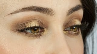 Gold/Braune smokey eyes Make-Up Tutorial by Hatice Schmidt