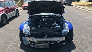 Supercharged 350Z first start up