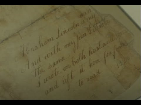 August 2011 Featured Artifact of the Month: Abraham Lincoln's Sum Book Page