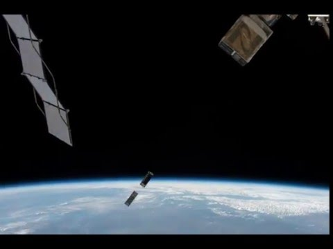 Two CubeSats Deployed from the International Space Station